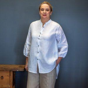 Shirt - white linen