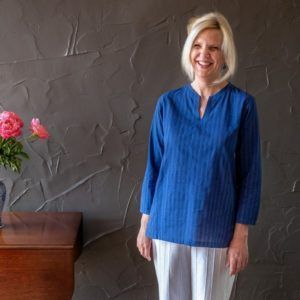 Amrita shirt - blue cotton