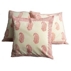 Cushion cover - pink and white
