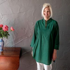 Molly kurta - green mangalgiri long