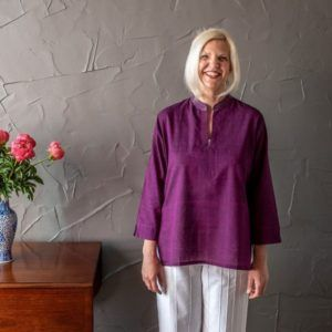 Molly kurta - purple mangalgiri cotton
